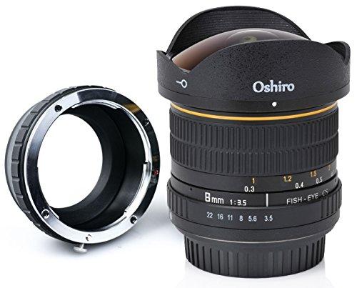Oshiro 8mm f/3.5 LD UNC AL Wide Angle Fisheye Lens for Olympus Pen E-M1, E-M5, E-M10, E-PL7, E-P5, E-PL5, E-PM2, E-P1, E-P2, E-PL1, E-PL1s, PL2 Micro Four Thirds Mirrorless Digital Cameras