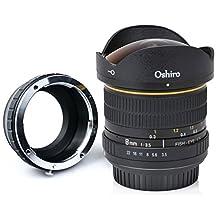 Oshiro 8mm f/3.5 LD UNC AL Wide Angle Fisheye Lens for Sony a7r II, a7s, a7, a6300, a6000, a5100, a5000, a3000, NEX-7, NEX-6, NEX-5T, NEX-5N, NEX-5R, 3N and other E-Mount Digital Mirrorless Cameras