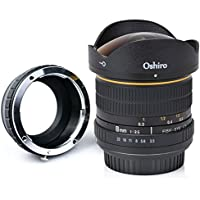 Oshiro 8mm f/3.5 LD UNC AL Wide Angle Fisheye Lens for Olympus OM-D E-M1, E-M10, E-M5, PEN E-PL7, E-P5, E-PL5, E-PM2, E-P1, E-P2, E-PL1, E-PL1s, E-PL2 and other Micro Four Thirds Mount Digital Cameras