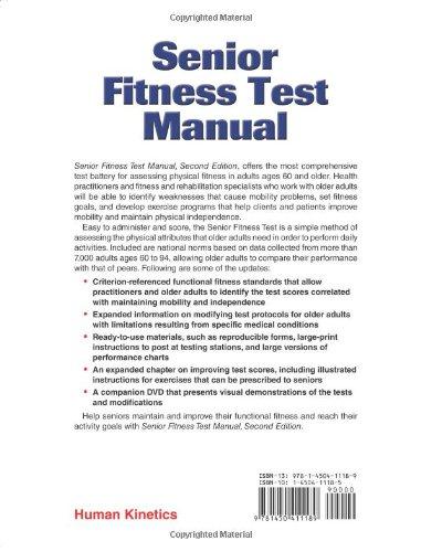 Senior Fitness Test Manual (2nd ed): Amazon co uk: Roberta E