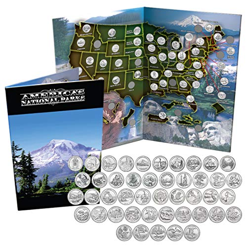 (National Park Quarters Complete Date Set America the Beautiful Coins in Deluxe Color)