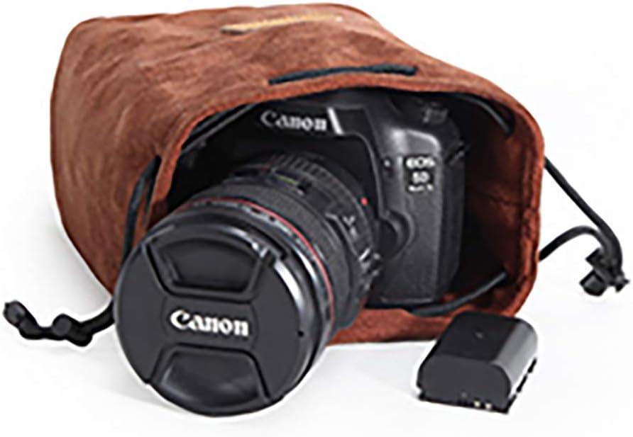 S-Lens, Gray Binglinghua Camera Inner Bag DSLR SLR Lens Insert Bag Soft Lens Pouch-BLHTYC7011