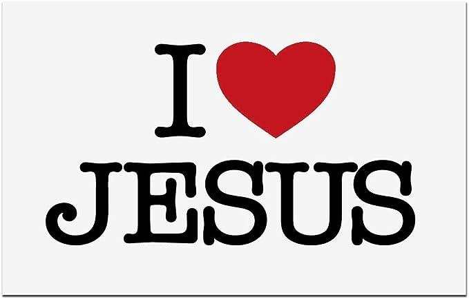 Mamemi Aufkleber I Love Jesus Amazon De