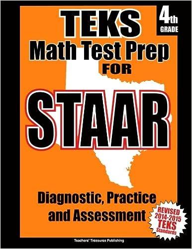 Teks 4th Grade Math Test Prep For Staar Teachers Treasures