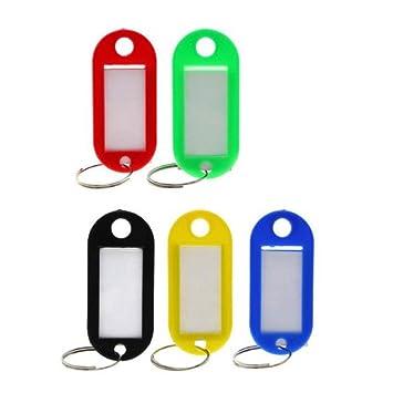 STOBOK 25 unids etiqueta de plástico clave de identificación ...