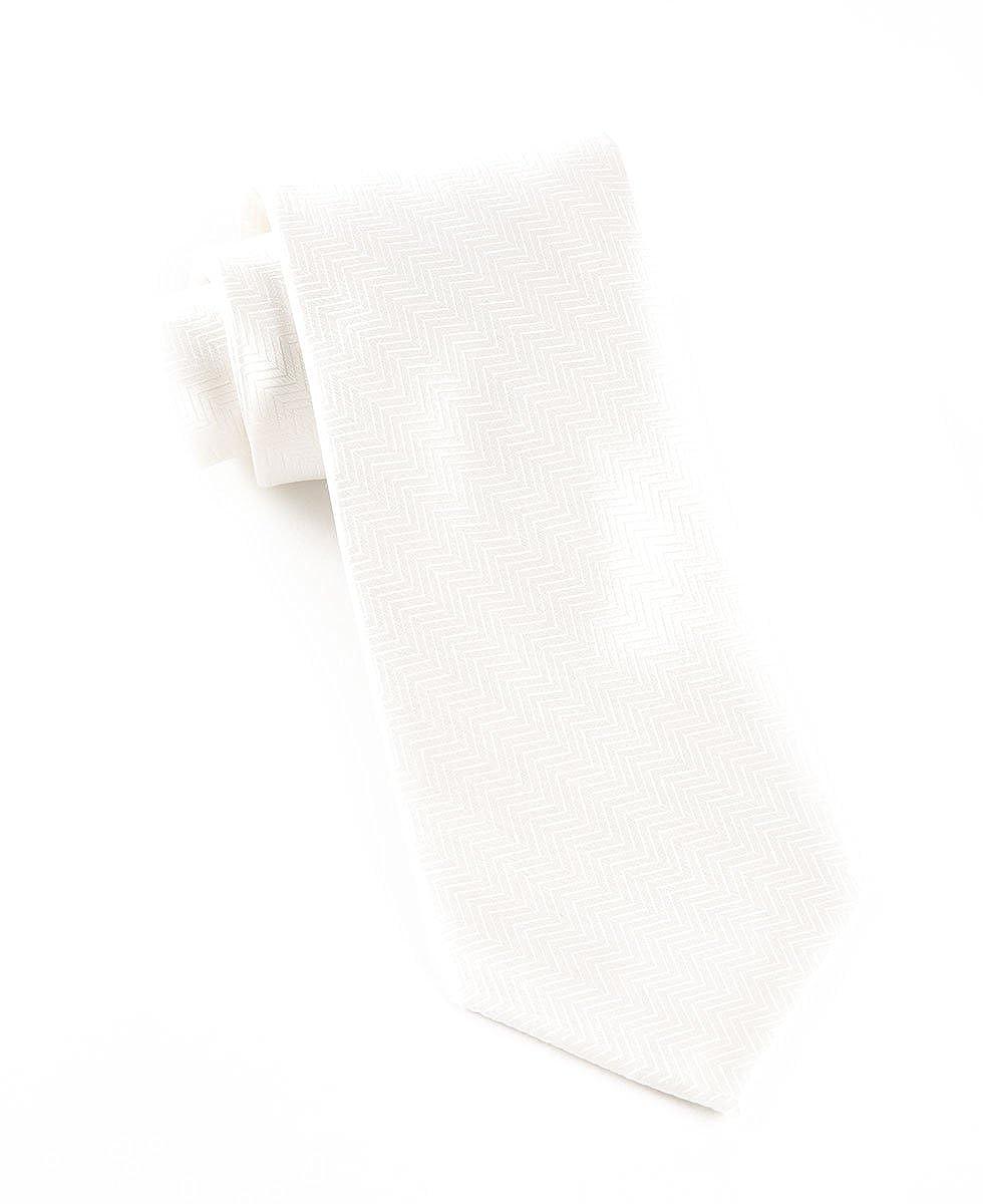 074d853998dd 100% Woven Silk Herringbone White Tie Tie Tie 742713 - krbm ...