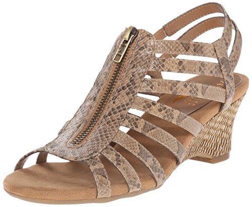 UPC 887740786872, Aerosoles Women's Half Dozen Wedge Sandal, Tan Lizard, 9 M US
