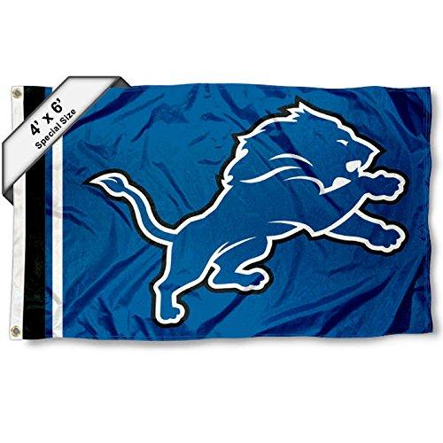Detroit Lions 1.2m x 1.8m Flag   B01N6MI7MD