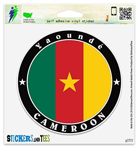 Cameroon Yaounde Vinyl Car Bumper Window Sticker 2' x 2'