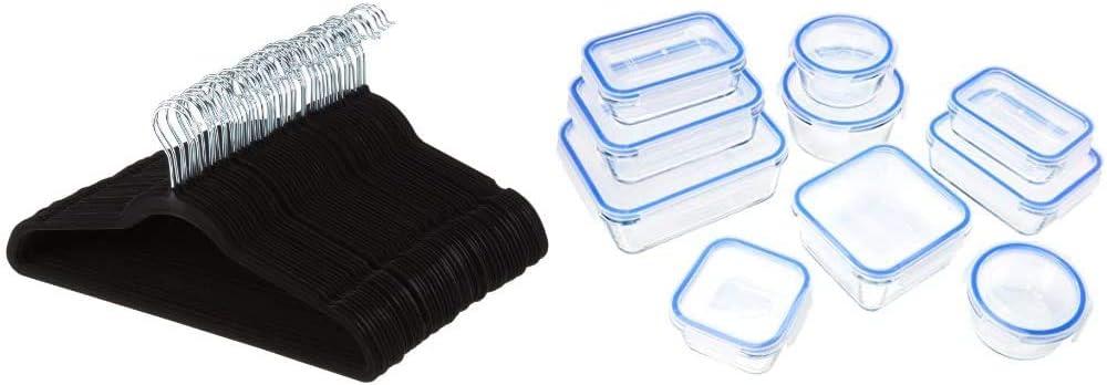 Perchas de terciopelo para trajes Paquete de 100 Gris Basics
