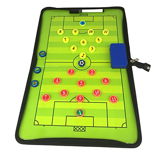 Soccer Clipart (LUQHUQ Soccer Magnetic Coaching Board Winning Strategy Board with Dry Erase Marker Kit Equipment Foldable and Portable Coach board Tool (Training, competition))