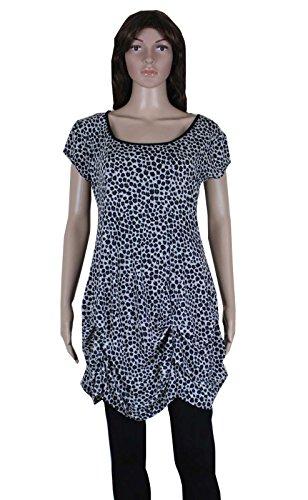 Print Bubble Hem Dress - 5