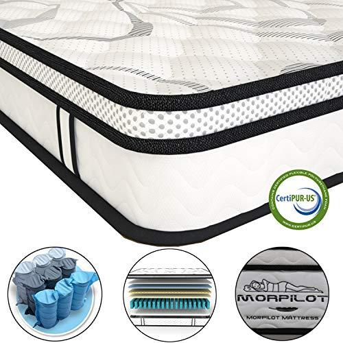 10 Inch Memory Foam Mattress Hybrid Innerspring Mattress In Box Individual Pocket Spring Medium Firm Feel Motion Isolation Breathable Comfortable Full Size Mattress Full 10 Inch