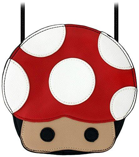 Mushroom Bag Adorable Body Head Handbag 19x18 5x4cm Cross Women's 61q7w