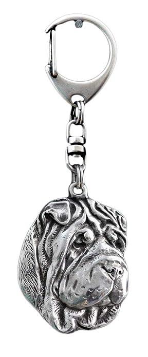 Shar-Pei, llavero del perro, ArtDog: Amazon.es: Joyería