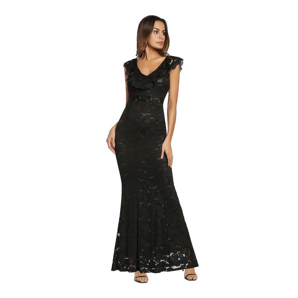 Vestido de mujer Vestido largo de encaje sin mangas de la tarde formal de las mujeres, vestidos de boda largos del vestido de bola para las mujeres rojo, ...