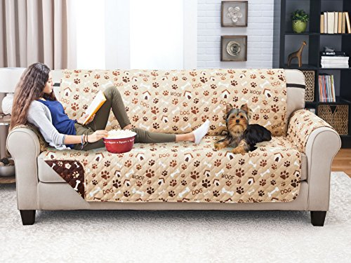 Deluxe Reversible Sofa Furniture Protector, Paws ($100 Sale Cheap For Couches Under)