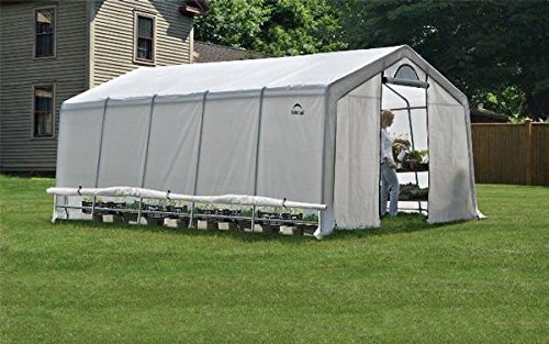 PROFESSIONAL GREENHOUSE FOR THE AVID GROWER ( Translucent Polyethylene Cover, Double Zippered Doors with Screened Vents) 12ft. x 20 x 8ft. 3,7 x 6,1 x 2,4 m (Greenhouse Door Double)