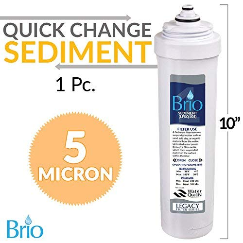 Magic Mountain Water Products Presents The Brio Quick Change/Easy Change Replacement Filter Cartridges (1, Sediment Filter)