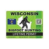 fagraphix Wisconsin Bigfoot Hunting Permit Sticker Die Cut Decal Sasquatch Lifetime FA Vinyl - 4.00 Wide
