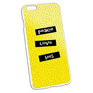 Peace Love Bees Snap On Hard Protective Case for Apple iPhone 6 6s Plus