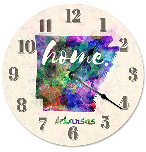 ARKANSAS STATE HOME CLOCK Large 10.5