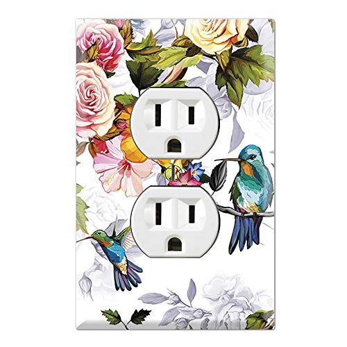 Graphics Wallplates - Hummingbirds Painting - Duplex Outlet Wall Plate Cover