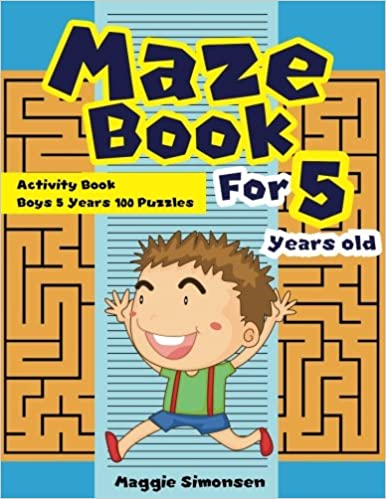 graphic about Printable Mazes for 3 Year Olds known as Maze Ebook For 5 Several years outdated: Game Guide Boys 5 Many years 100