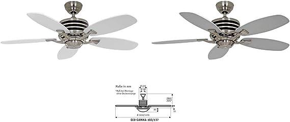 Casafan 9510350 Ventilador de techo Eco Gamma 103 WE-LG pintura de ...