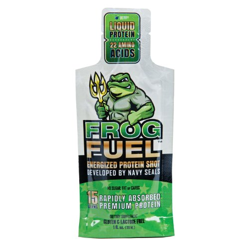 FrogFuel Energized Power Liquid Protein Shot, Energy Shot - Berry - 24 1oz Nano Hydrolyzed Collagen Liquid Protein Shots. Proven 100% Digestibility in <15 Minutes. Complete Protein. Not a Protein Gel.