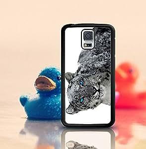 Samsung Galaxy S5 i9600 Funda Case , Snow Leopard Samsung Galaxy S5 i9600 Funda Case, Wicked And Wild Tigers Hard Plastic Protective Funda Case Cover
