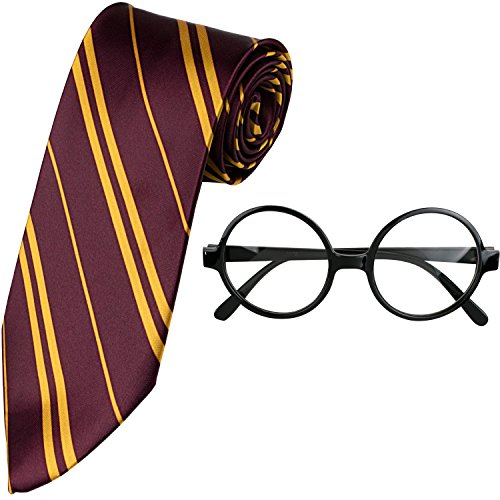 Kangaroo Wizard Tie & Glasses Costume Accessory Set