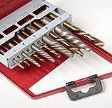 7 16 cobalt drill bit - Power Tools 10pc Easy Out Screw Extractor Set Left Hand Cobalt Drill Bit Broken Bolt Remover