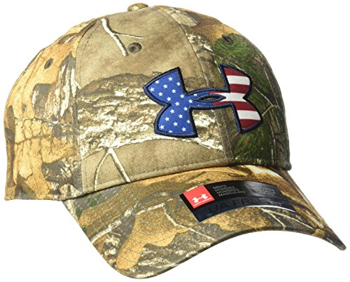 Under Armour Men's Camo Big Flag Logo Cap, Realtree Ap-Xtra (946)/White, One Size (White Camo Under Armour Hat)