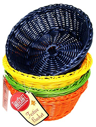 (TableCraft Products HM1175A Basket, Assorted, PP, Round, 8.25