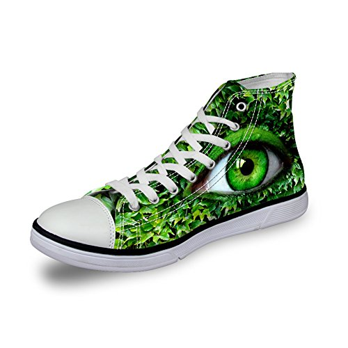 FOR U DESIGNS Designer Women Canvas Shoes Vivid pupil Eyes High Top Flat Sneakers Pupil Eyes 5 mSFNWep7r