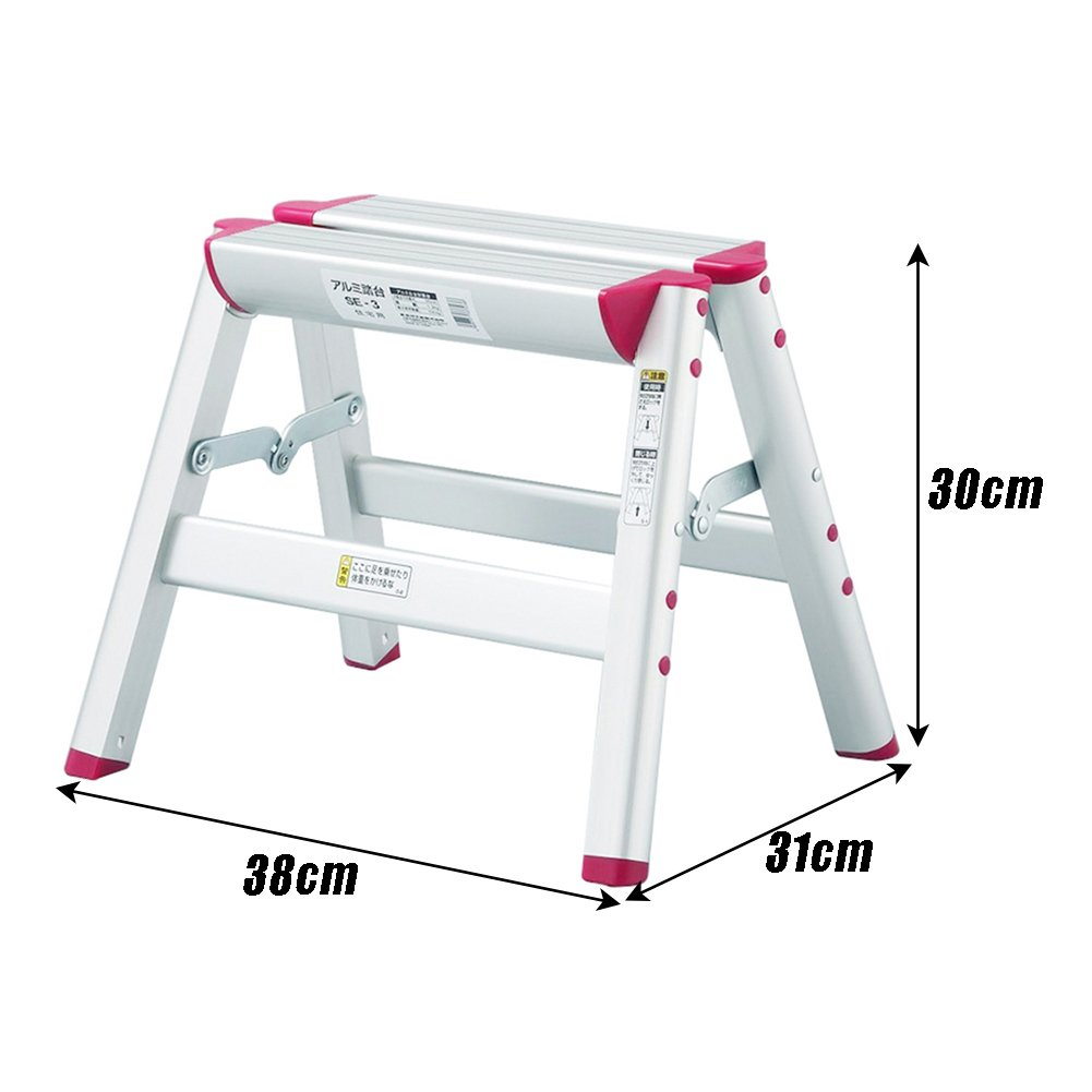 LXLA- Aluminum Alloy 1,2,3-Step Stool Household Folding Ladder Stool Adult Thicken Scissors Ladder For Home, Workshop, Garage (Size : 1-Step) by LXLA-Step Stool (Image #2)