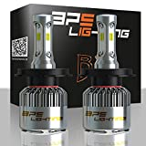 BPS Lighting B2 LED Headlight Bulbs Kit w/Clear Arc Beam 100W 16000LM 6000K - 6500K White CSP LED Headlight Conversion for Replace Halogen Bulb Headlights - (2pcs/set) (9007/HB5)