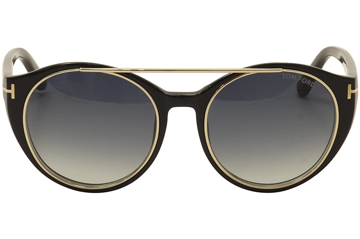 b984a5292ee Tom Ford Sunglasses - Joan Frame  Black Lens  Blue gradient-TF038301W at  Amazon Men s Clothing store