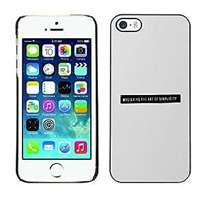 [Neutron-Star] Snap-on Series Teléfono Carcasa Funda Case Caso para iPhone 5 / 5S [La simplicidad minimalista Negro Gris Texto Imprimir]