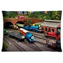 """16x24 16""""x24"""" 40x60cm pillowcover cases covers [ Polyester - Cotton ] Standard Wrinkle free Thomas the Tank Engine & Friends"""