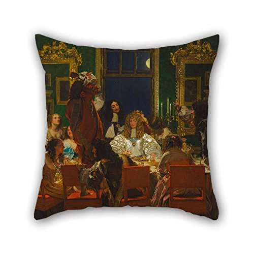 (beeyoo Pillow Cases of Oil Painting Augustus Leopold Egg - The Life of Buckingham 18 X 18 inches / 45 by 45 cm Best Fit for Bedding Pub Home Office)