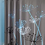 Curtain Shower,3D Waterfall Nature Scenery Bath Curtain(180X200cm) Water Resistant Shielding Cloth for Bathroom (Grey)