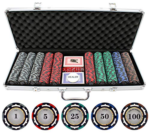 JP Commerce 500 Piece Z-Pro Clay Poker Chips - Pro Clay Poker Poker