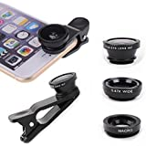 Cell Phone 3-1 Camera Lenses for iPhone , HTC, Samsung , Smart Phone, Tablets, iPad, and Laptops,Universal Clip, Mothers Day Gift