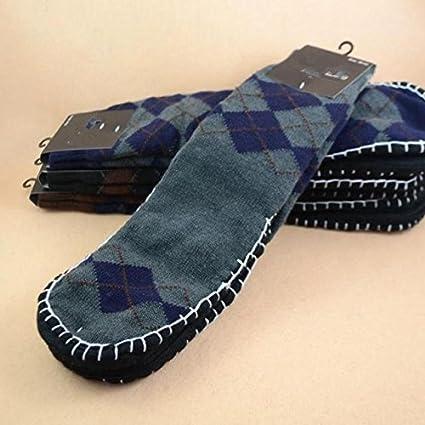 Antideslizante suelo calcetines adultos calcetines de los hombres otoño y el invierno cálido gruesa doble pie