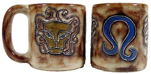 Mara Ceramic Stoneware 16 Oz. Leo Mug (Set of 2)