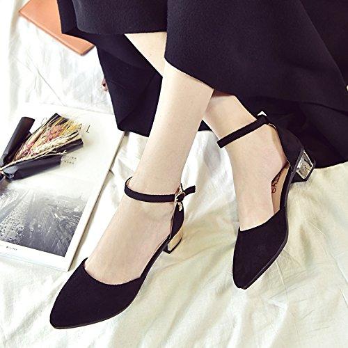 Chaussures Des Chaussures De High Femme En La Tirant Rose Occasionnels Pointe SHOESHAOGE L'Air Gras À Heeled Avec Crénelé Avec Sandales EU34 Travailler n7YZUTqw