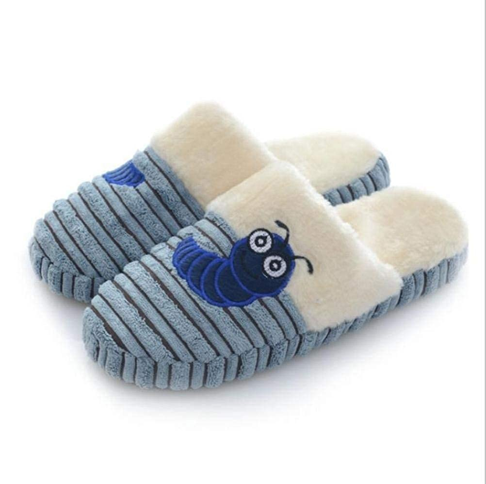 Comfortable Slipper Casual Fall and Winter Keep Warm Cotton Slippers Men Slippers Blue Mixed Color Personality Quality for Men