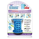 """ShowerShroom the Revolutionary 2"""" Stand-Up Shower Stall Drain Protector Hair Catcher/Strainer, Blue"""